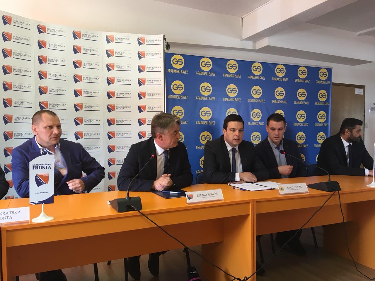 Demokratska fronta i Građanski savez potpisali koalicioni sporazum ...